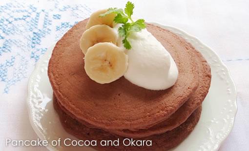 ココアとおからのパンケーキ